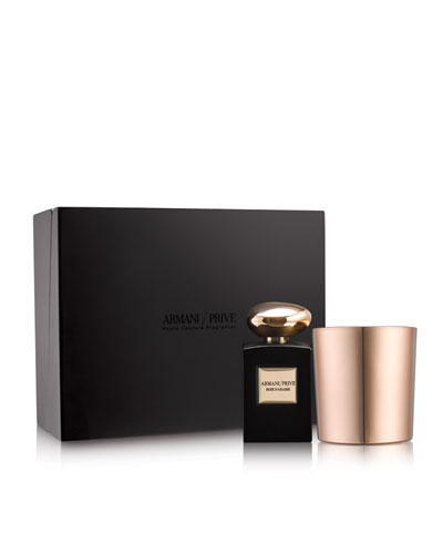 Limited Edition Armani Prive Rose D'Arabie Candle Set