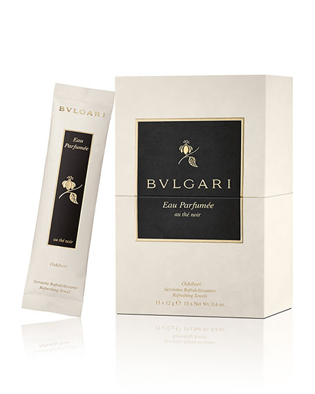BVLGARI Eau Parfum??e Au Th?? Noir Refreshing Towels