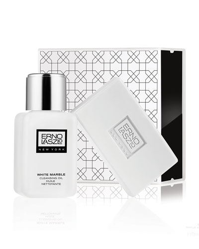 White Marble Double Cleanse Set