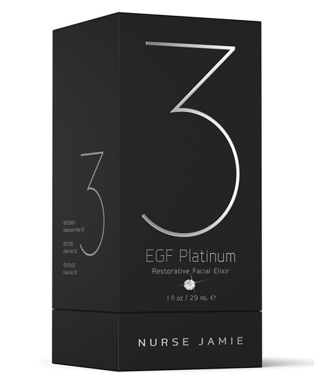 EGF Platinum 3 Restorative Facial Elixir, 1 oz.