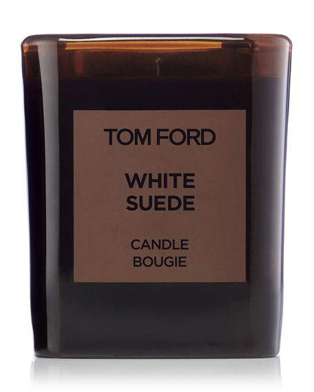 White Suede Candle