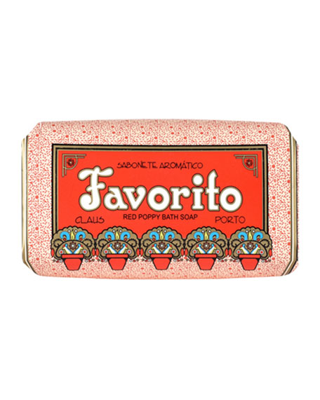 Claus Porto Favorito - Red Poppy Soap, 150g