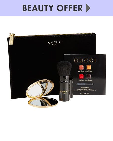 Receive a free 4-piece bonus gift with your $125 Gucci purchase