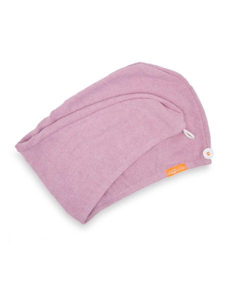 Aquis Luxe Hair Turban, Desert Rose