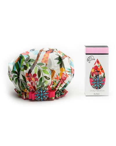 Tropical Twist Bouffant Shower Cap