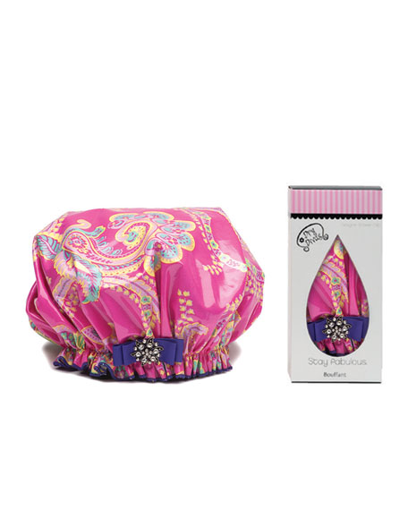 Royal Flamingo Bouffant Diva Shower Cap
