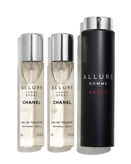 <b>ALLURE HOMME SPORT</b><br> EAU DE TOILETTE REFILLABLE TRAVEL SPRAY