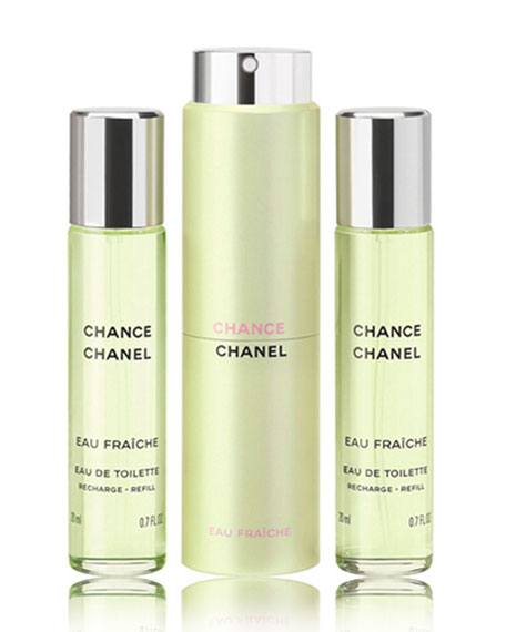 <b>CHANCE EAU FRA&#206CHE</b><br> Eau de Toilette Twist & Spray, 3 x 0.7 oz./ 21 mL