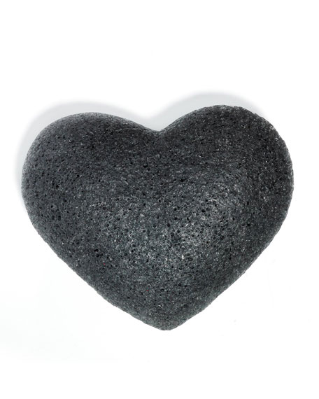 Cleansing Sponge Charcoal Heart