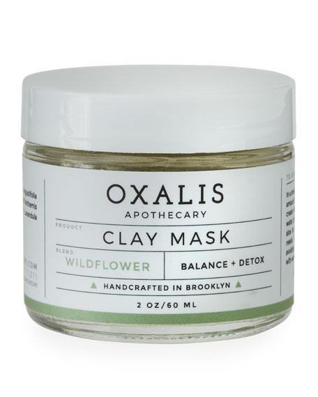Oxalis Apothecary Wildflower Clay Mask, 2.0 oz.