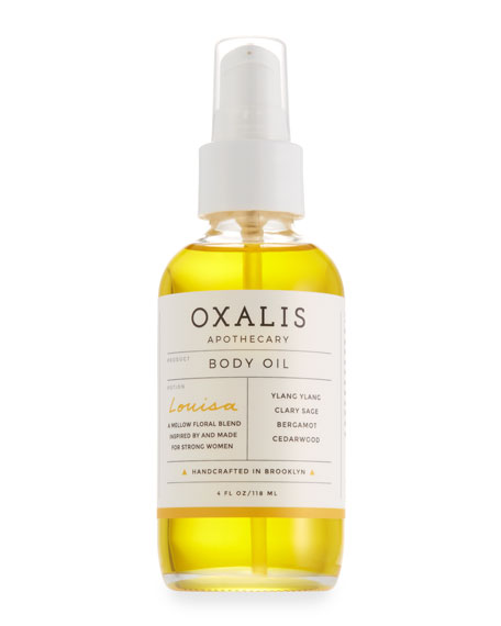 Oxalis Apothecary Louisa Body Oil, 4.0 oz.