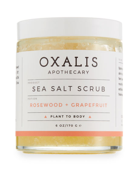 Oxalis Apothecary Sea Salt Body Scrub, 6.0 oz.