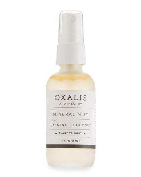 Oxalis Apothecary Mineral Mist: Jasmine + Coconut, 2.0