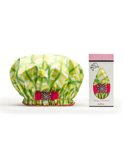 Squeeze o'Lime Bouffant Diva Shower Cap