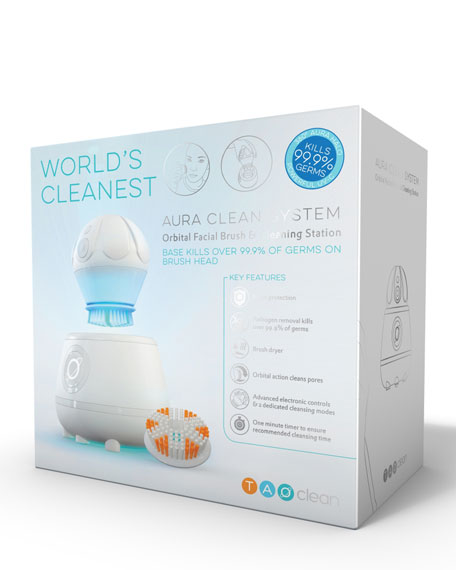 Aura Clean Facial Brush & Cleaning Station, White