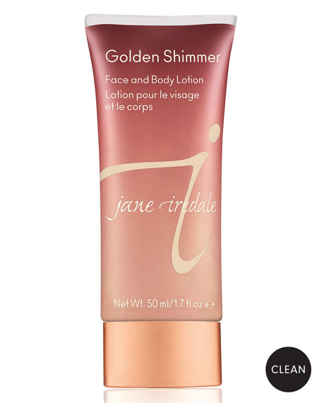 Jane Iredale Golden Shimmer Face & Body Lotion,