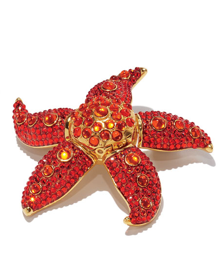 Limited Edition Modern Muse Dancing Starfish Perfume Compact by Monica Rich Kosann