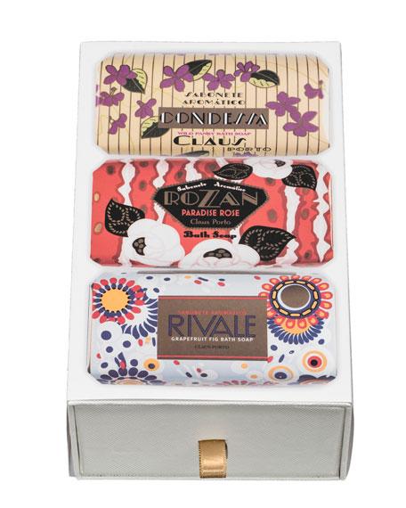 Claus Porto Condessa, Rozan & Rivale Gift Box