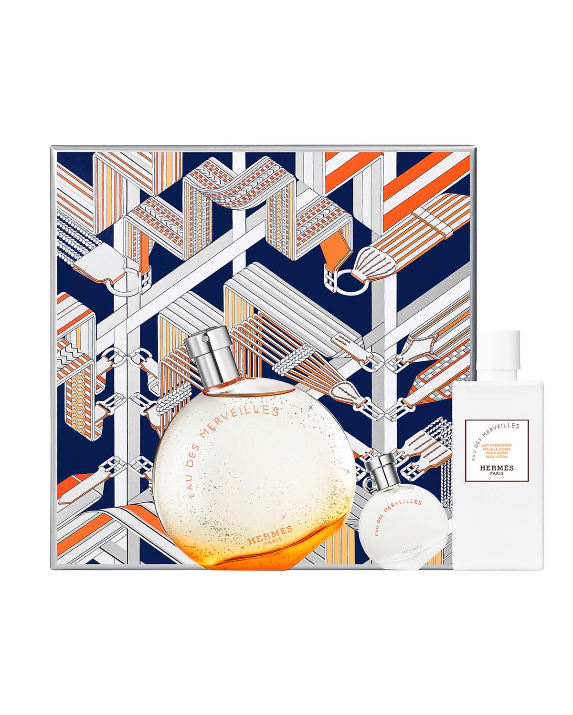 Hermes Ftes En Herms Eau Des Merveilles Gift Set De Toilette Woman Edt 100 Ml