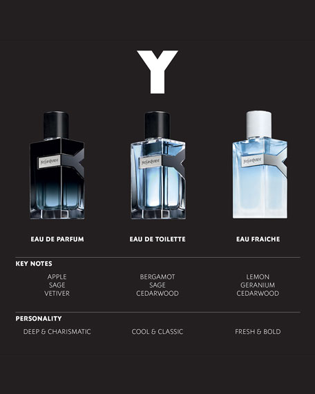 Y Eau de Toilette, 3.4 oz./ 100 mL