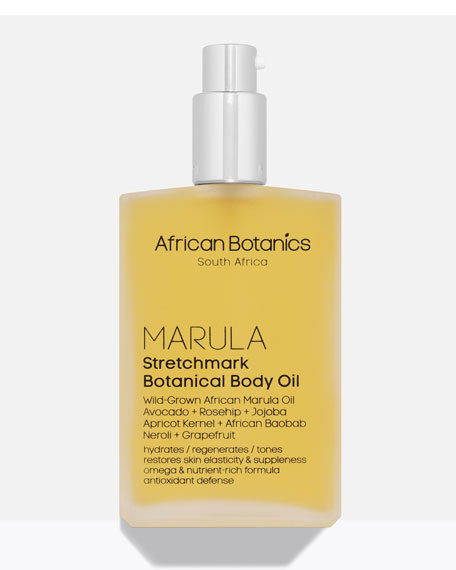 African Botanics Marula StretchMark Botanical Body Oil, 3.4