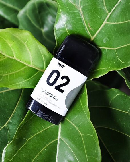 02 Tea Tree + Pumpkin Seed Deodorant, 2.65 oz./ 78 mL