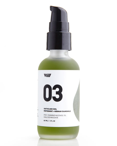 03 Soothe and Cool Massage Oil, 2.0 oz./ 59 mL