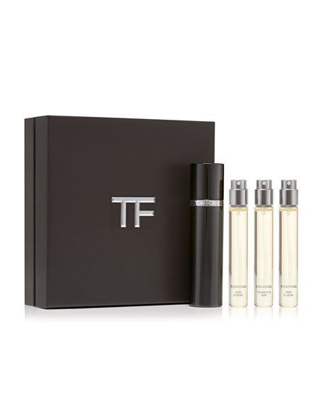 Private Blend Oud Wood Travel Atomizer Set, 0.3 oz./ 10 mL