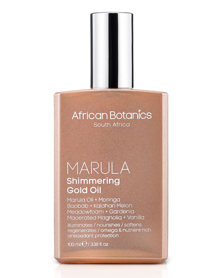 Marula Shimmering Gold Oil, 3.4 oz./ 100 mL