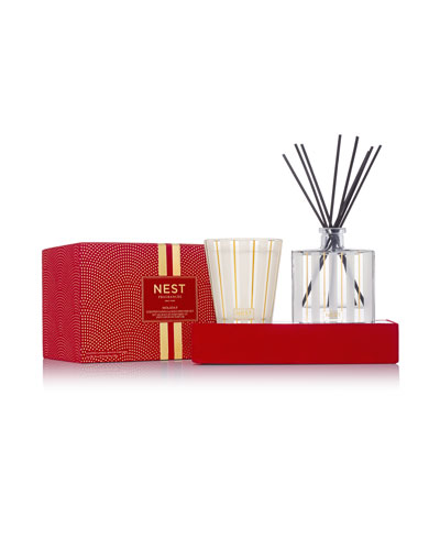 Holiday Candle and Diffuser Set