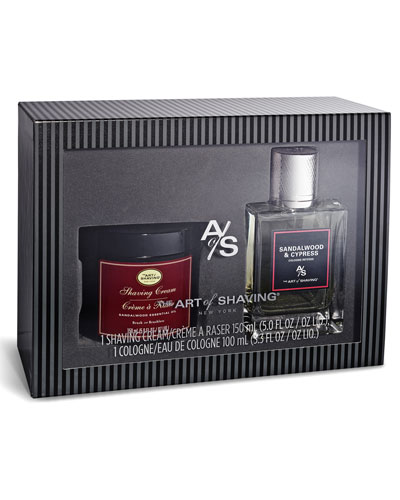 Sandalwood Eau de Toilette & Shave Cream Gift Set