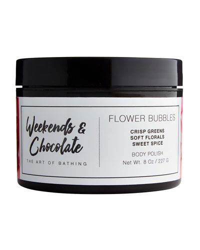 Body Scrub - Flower Bubbles, 8.0 oz./ 227 mL