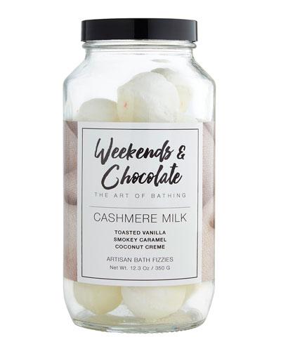 Bath Fizzies in a Jar - Cashmere Milk, 12.3 oz./ 350 g