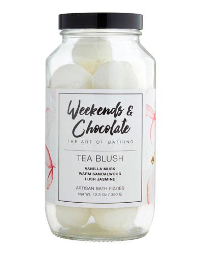Bath Fizzies in a Jar - Tea Blush, 12.3 oz./ 350 g