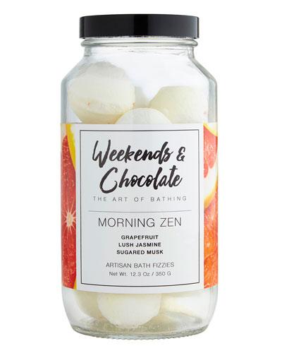 Bath Fizzies in a Jar - Morning Zen, 12.3 oz./ 350 g