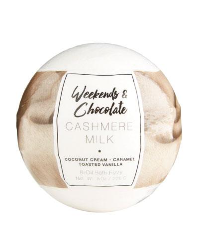 Large Bath Fizzy - Cashmere Milk, 8 oz / 226 g