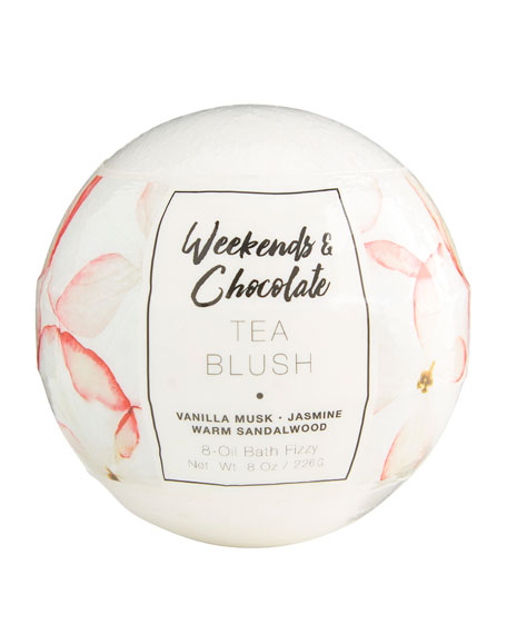 Weekends and Chocolate Large Bath Fizzy - Tea Blush, 8 oz / 226 g | Neiman Marcus