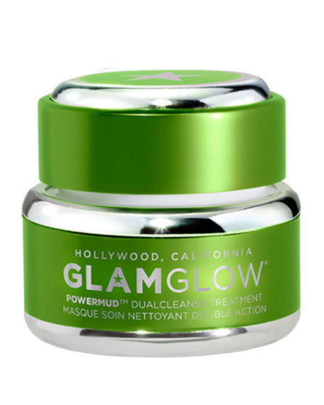 Glamglow PowerMud Dual Cleanse Treatment, 0.5 oz./ 15g