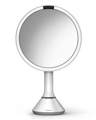 8&#148 Sensor Makeup Mirror with Brightness Control, White