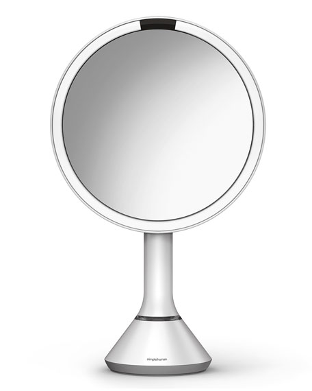 "simplehuman 8"" Sensor Makeup Mirror with Brightness Control,"