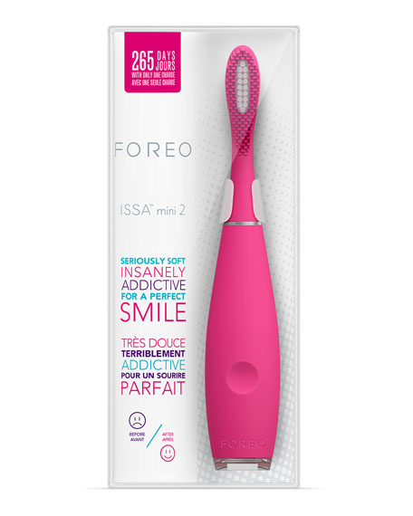 ISSA 2 Mini Silicone Sonic Toothbrush, Wild Strawberry