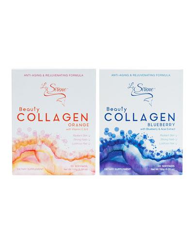 Beauty Collagen Flavor Duo  Powder Supplements (60 Servings)