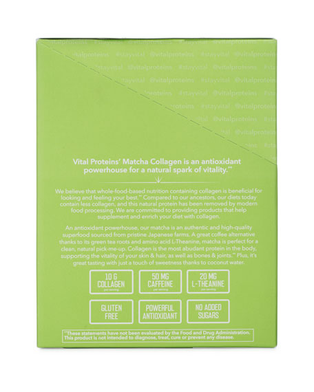 Collagen Peptides Matcha Stick Pack Box