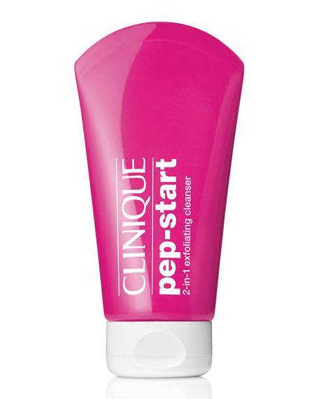 Clinique Pep-Start™ 2-in-1 Exfoliating Cleanser, 4.2 oz./ 124