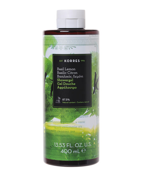 Basil Lemon Shower Gel, 14 oz./ 400 mL
