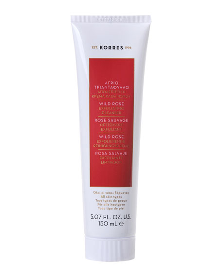 Korres Wild Rose Exfoliating Cleanser, 5.0 oz./ 150