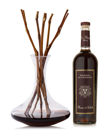 Rosso Nobile Decanter Crystal Decanter Collection Fragrance, 25 oz./ 750 mL