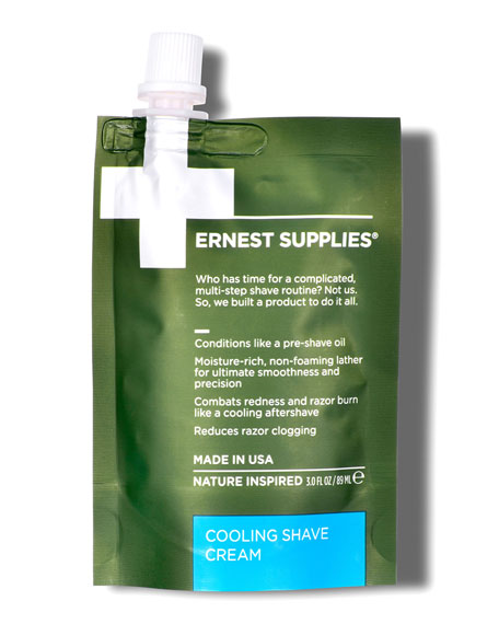 Ernest Supplies Cooling Shave Cream Tech Pack