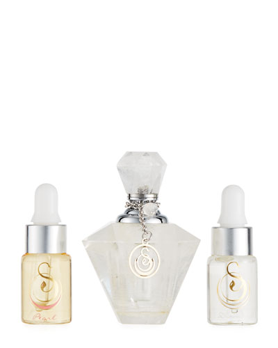 Clear Quartz Medium Gemstone Perfume