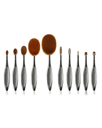 Elite Smoke 10 Makeup Brush Set